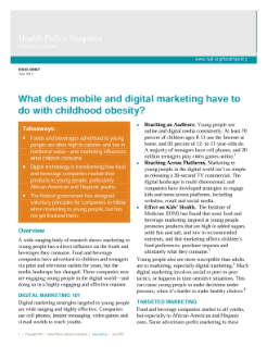 What Does Mobile and Digital Marketing Have to Do With Childhood Obesity?