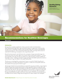 Recommendations for Healthier Beverages