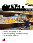 Cereal FACTS (Food Advertising to Children and Teens Score ) 2012