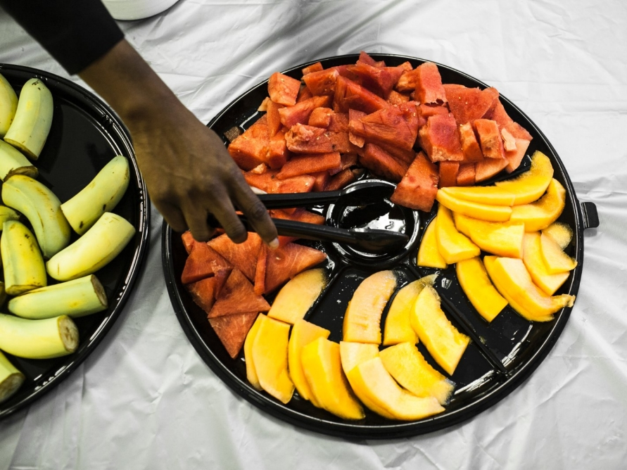 A plate of food at the Oak Hill Baptist church in Mississippi.
