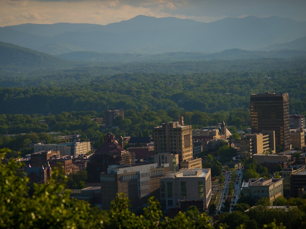 The townscape of Buncombe in North Carolina