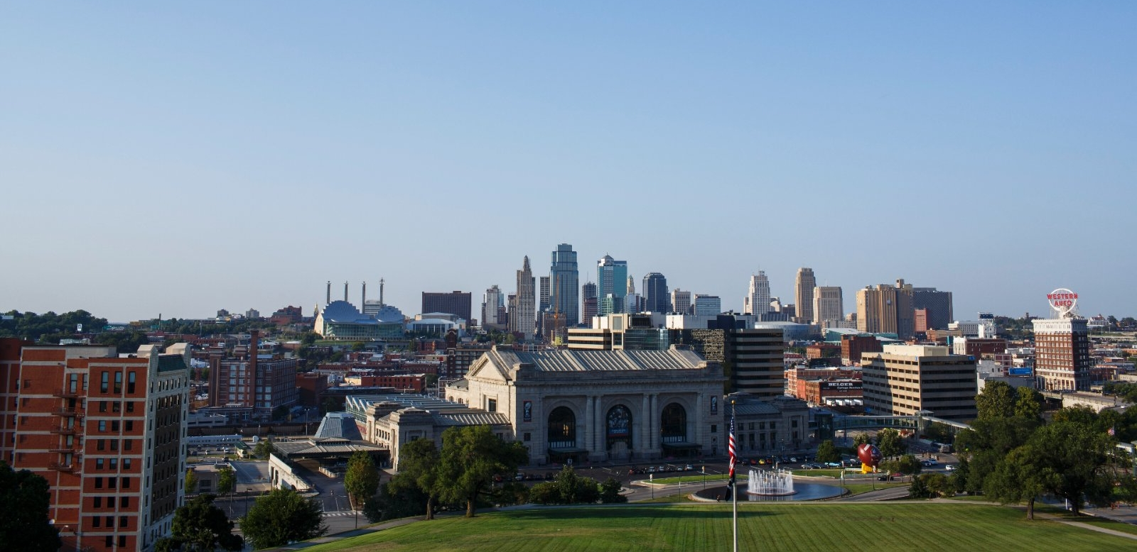 The Kansas City, MO skyline.