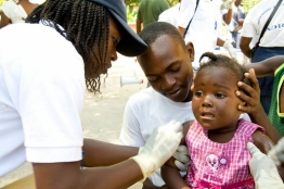 Public health vaccination in Haiti
