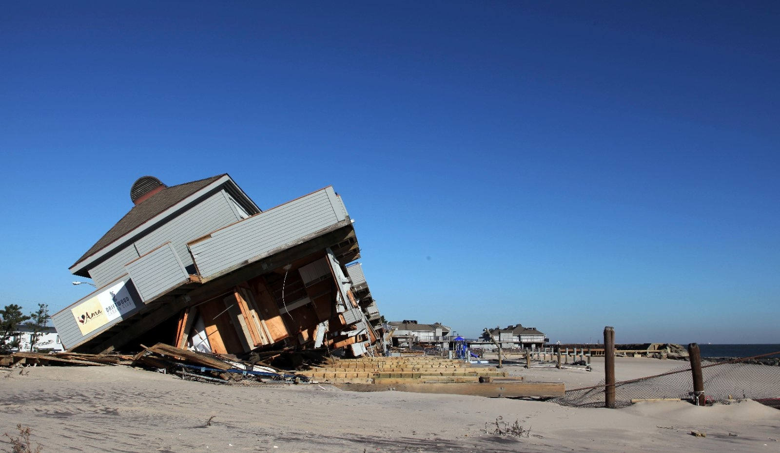 View of damage from Hurricane Sandy in N.J.