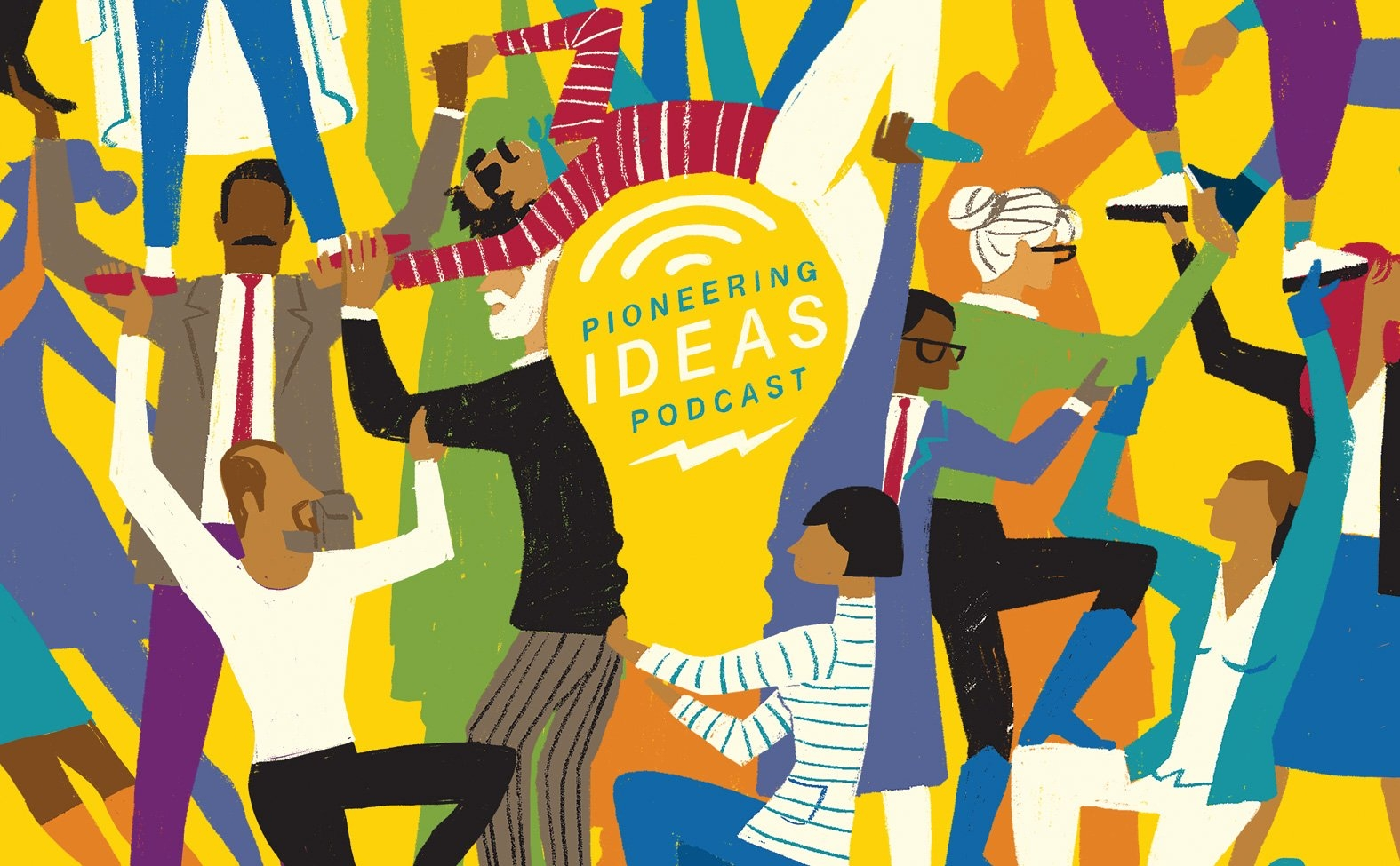 RWJF Pioneering Ideas Podcast Editorial Art