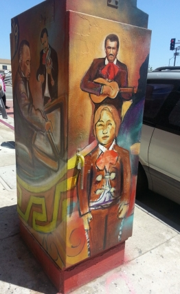 Murals at the Mariachi Plaza.