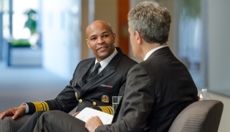 Surgeon General Jerome Adams and Rich Besser.