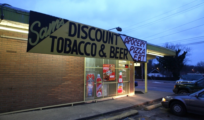 A discount tobacco and alcohol store in Nashville, TN.