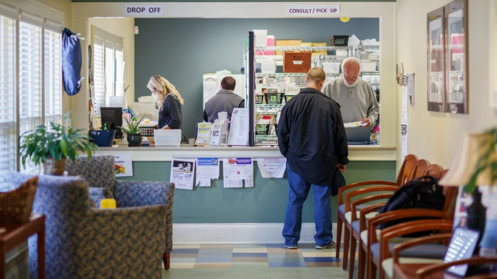 The Free Clinics makes available a pharmacy for patients to fill prescriptions.