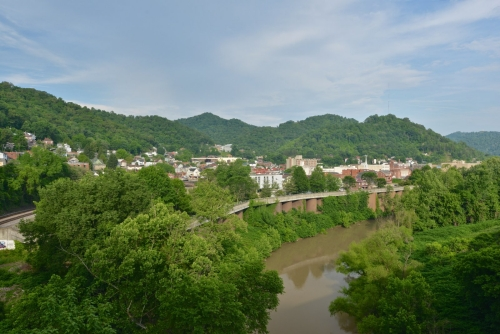 The townscape of Williamson, West Virginia.