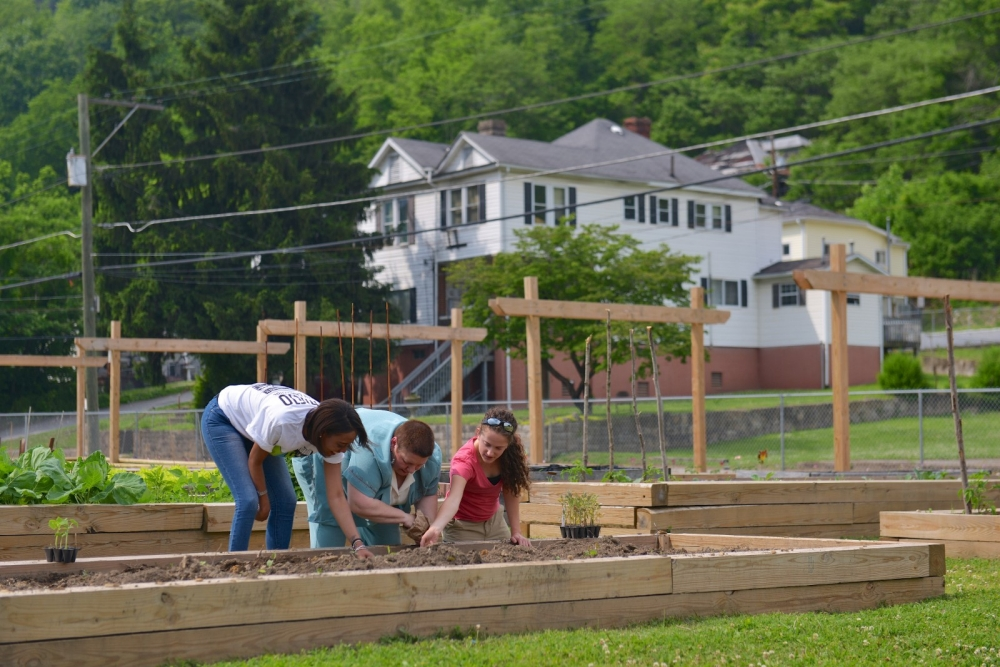 Local residents plant edibles at the Joe Remella Community Garden.