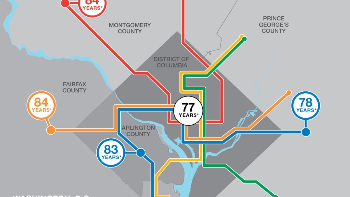 City Of Detroit Zip Code Map.Life Expectancy Maps Short Distances To Large Gaps In Health Rwjf