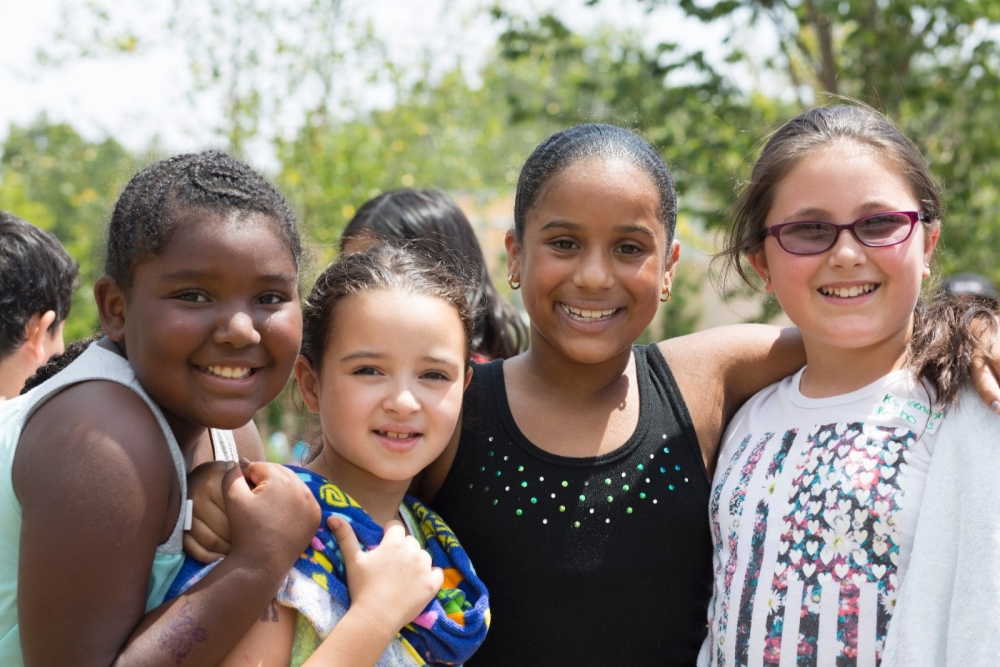 Girls at the Lighthouse summer program in Bridgeport.