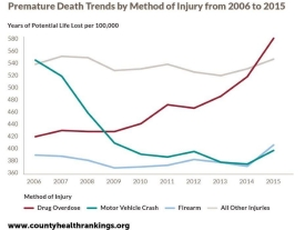 Premature Death Trends by Method of Injury from 2006 to 2015