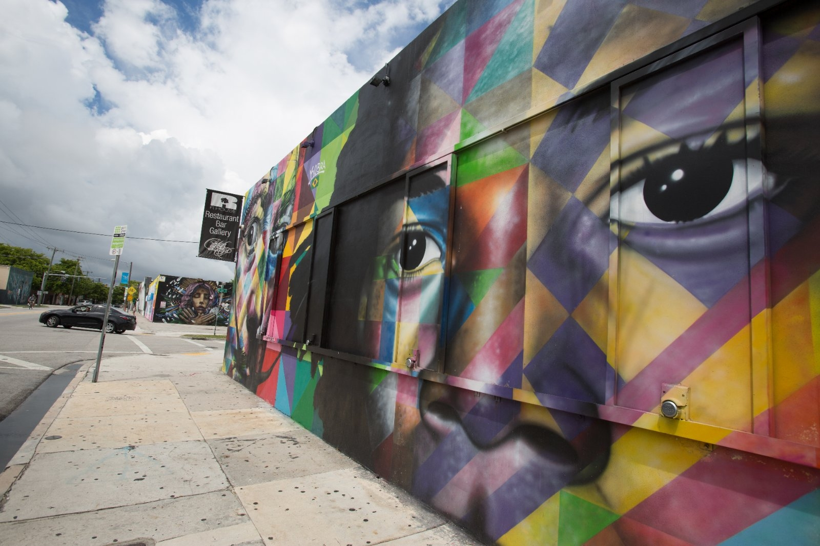 Street art in the Wynwood Walls area of Miami.