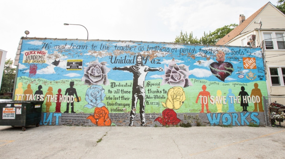 The Peace Mural in Cicero, IL was completed by rival gangs.