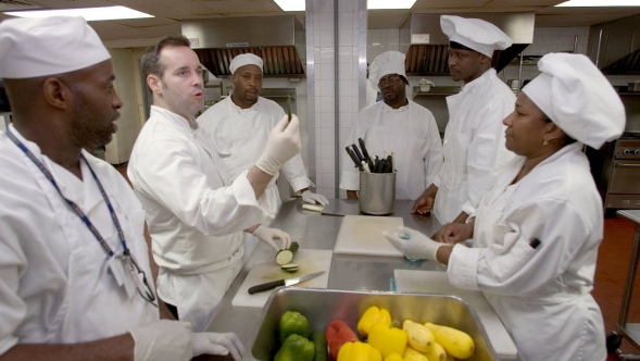 Culinary students preparing to join the workforce