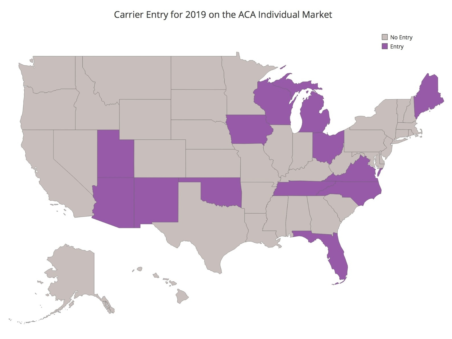 Carrier Entry for 2019 on ACA Individual Market